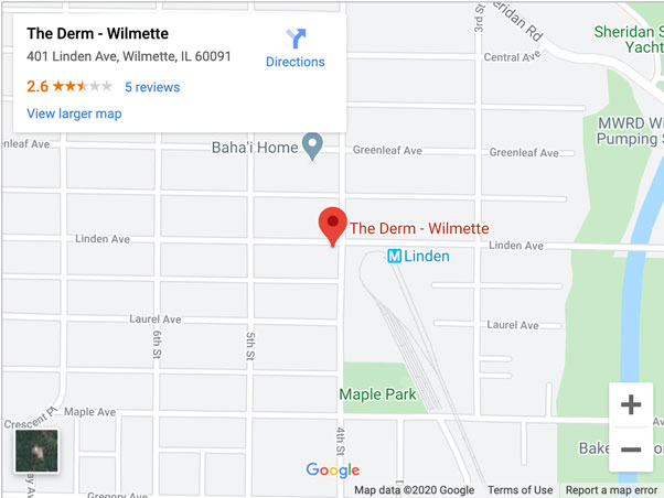the derm wilmette office directions